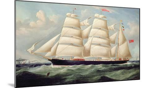 Clipper Barque 'Clendovey'-Richard B^ Spencer-Mounted Giclee Print
