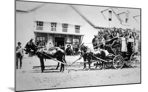 Fully-Loaded Stagecoach of the Old West, C.1885 (B/W Photograph)-American Photographer-Mounted Giclee Print