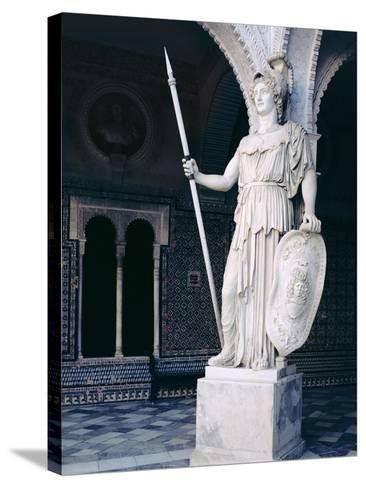The Goddess Athena, from the Main Courtyard of the Casa De Pilatos, Sevilla (Photo)--Stretched Canvas Print