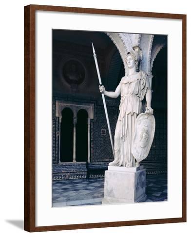 The Goddess Athena, from the Main Courtyard of the Casa De Pilatos, Sevilla (Photo)--Framed Art Print