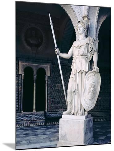The Goddess Athena, from the Main Courtyard of the Casa De Pilatos, Sevilla (Photo)--Mounted Giclee Print