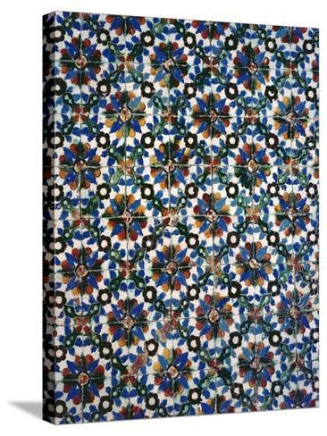 Azuleyos Tiles (Ceramic)--Stretched Canvas Print