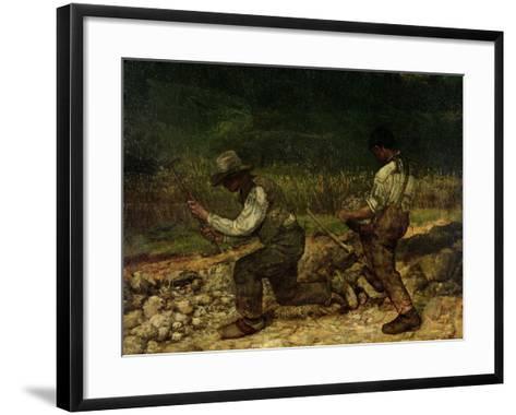 The Stonebreakers (Oil)-Gustave Courbet-Framed Art Print