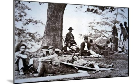 Union Army Amputees Recovering after Surgery (B/W Photo)-American Photographer-Mounted Giclee Print