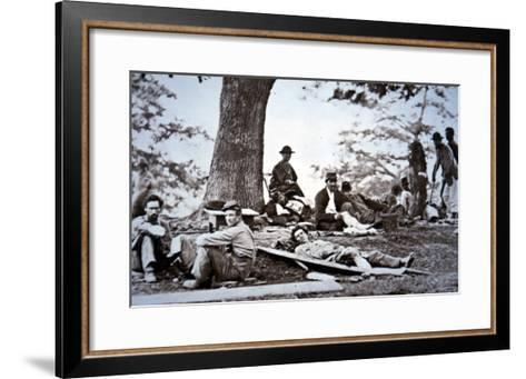 Union Army Amputees Recovering after Surgery (B/W Photo)-American Photographer-Framed Art Print