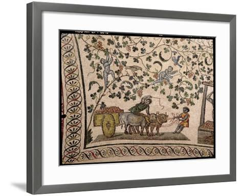 The Grape Harvest (Mosaic)-Roman-Framed Art Print