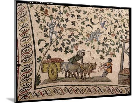 The Grape Harvest (Mosaic)-Roman-Mounted Giclee Print