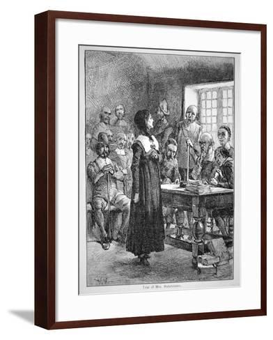 Anne Hutchinson on Trial for Offending the Puritan Clergy in Massachusetts (Litho)-American-Framed Art Print