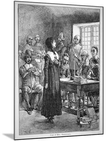 Anne Hutchinson on Trial for Offending the Puritan Clergy in Massachusetts (Litho)-American-Mounted Giclee Print