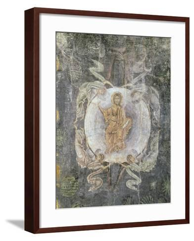 Christ in Majesty Surrounded by Four Angels, Ceiling Painting, 11th-14th Century (Fresco)-Byzantine-Framed Art Print