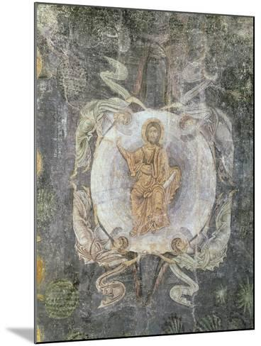 Christ in Majesty Surrounded by Four Angels, Ceiling Painting, 11th-14th Century (Fresco)-Byzantine-Mounted Giclee Print