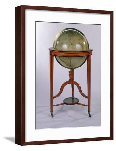 A Regency Terrestrial Library Globe on Mahogany Stand, 1806 (Mixed Media)-English-Framed Art Print
