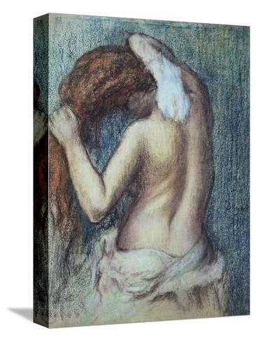 Femme a Sa Toilette, C.1895 (Pastel on Paper)-Edgar Degas-Stretched Canvas Print