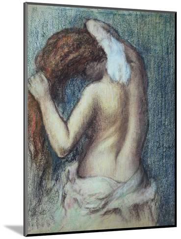 Femme a Sa Toilette, C.1895 (Pastel on Paper)-Edgar Degas-Mounted Premium Giclee Print