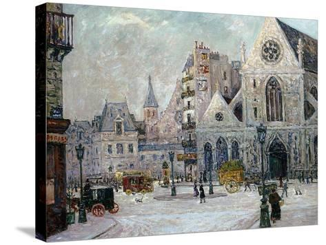 The Church of St. Nicolas-Des-Champs, Rue St. Martin, Paris, 1908-Maxime Emile Louis Maufra-Stretched Canvas Print