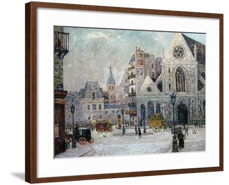 The Church of St. Nicolas-Des-Champs, Rue St. Martin, Paris, 1908-Maxime Emile Louis Maufra-Framed Art Print