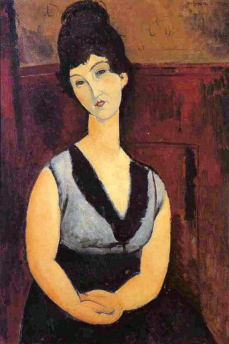 The Beautiful Confectioner, 1916-Amedeo Modigliani-Stretched Canvas Print