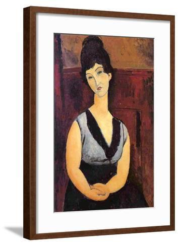 The Beautiful Confectioner, 1916-Amedeo Modigliani-Framed Art Print