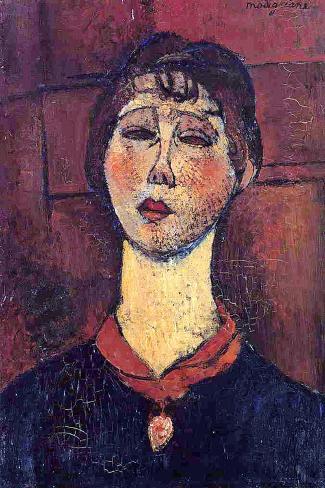 Madame Dorival, 1916-Amedeo Modigliani-Stretched Canvas Print