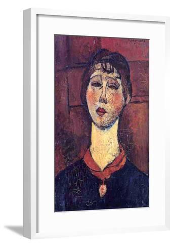 Madame Dorival, 1916-Amedeo Modigliani-Framed Art Print