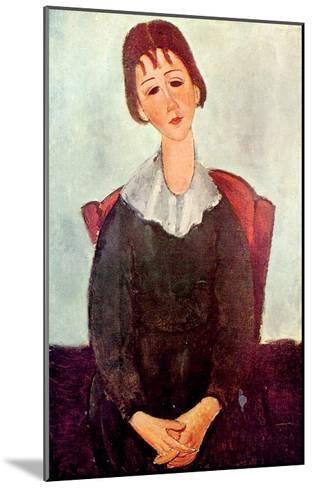 Girl in Black, 1918-Amedeo Modigliani-Mounted Giclee Print