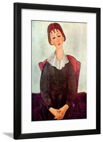 Girl in Black, 1918-Amedeo Modigliani-Framed Art Print