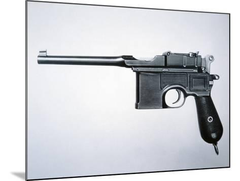 Mauser 7.53 Semi-Automatic Pistol (Metal)-German-Mounted Giclee Print