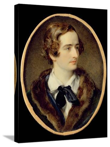 Portrait Miniature of John Keats (W/C on Ivory) (Detail of 67539)--Stretched Canvas Print