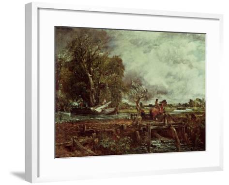 The Leaping Horse, c.1825-John Constable-Framed Art Print