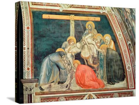 Deposition, C.1320 (Fresco)-Pietro Lorenzetti-Stretched Canvas Print