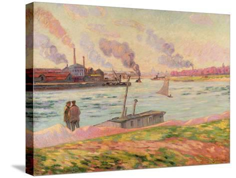 The Pointe D'Ivry, 1886-Armand Guillaumin-Stretched Canvas Print