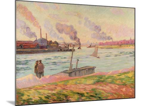 The Pointe D'Ivry, 1886-Armand Guillaumin-Mounted Giclee Print