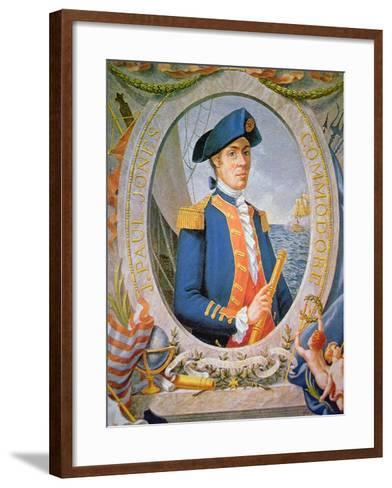 John Paul Jones (Colour Litho)-American-Framed Art Print