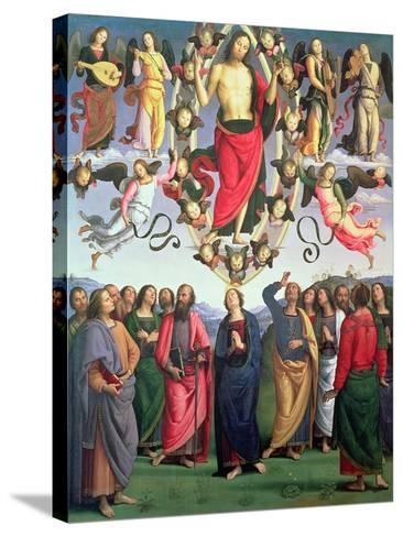 The Ascension of Christ, 1495-98 (Oil on Panel)-Pietro Perugino-Stretched Canvas Print