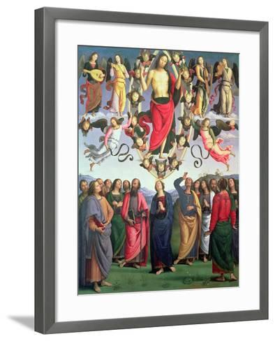 The Ascension of Christ, 1495-98 (Oil on Panel)-Pietro Perugino-Framed Art Print