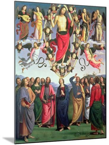 The Ascension of Christ, 1495-98 (Oil on Panel)-Pietro Perugino-Mounted Giclee Print