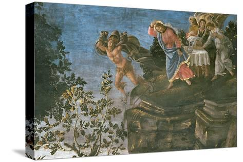 The Purification of the Leper and the Temptation of Christ, in the Sistine Chapel, 1481-Sandro Botticelli-Stretched Canvas Print