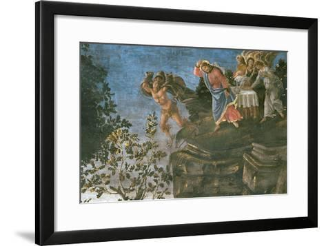 The Purification of the Leper and the Temptation of Christ, in the Sistine Chapel, 1481-Sandro Botticelli-Framed Art Print