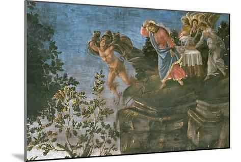 The Purification of the Leper and the Temptation of Christ, in the Sistine Chapel, 1481-Sandro Botticelli-Mounted Giclee Print