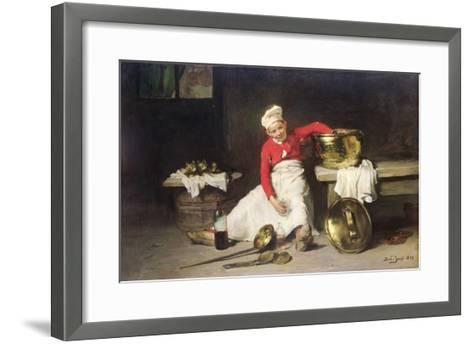 Kitchen-Boy, 1893-Joseph Bail-Framed Art Print