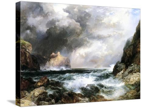 Castle in Scotland, 1910 (Oil on Board)-Thomas Moran-Stretched Canvas Print