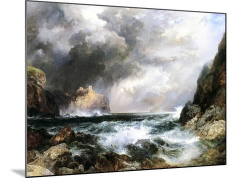 Castle in Scotland, 1910 (Oil on Board)-Thomas Moran-Mounted Giclee Print