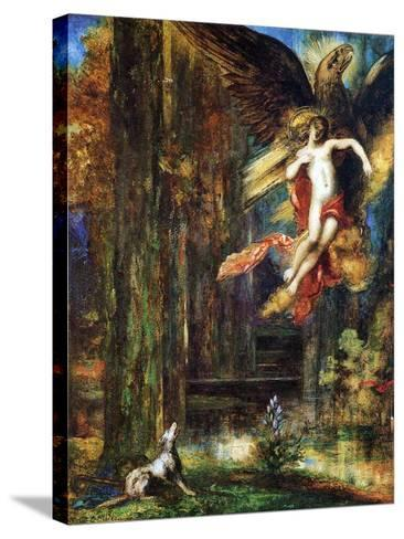 Ganymede, 1886 (W/C and Gouache on Paper)-Gustave Moreau-Stretched Canvas Print