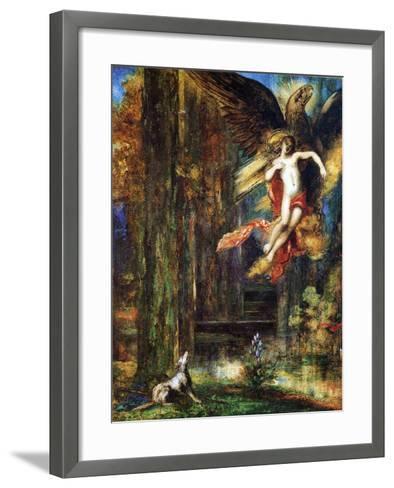 Ganymede, 1886 (W/C and Gouache on Paper)-Gustave Moreau-Framed Art Print