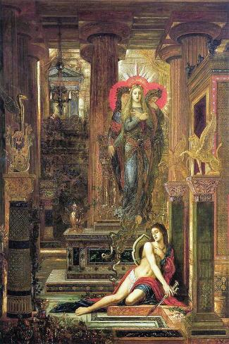 Orestes and the Erinyes, 1891-Gustave Moreau-Stretched Canvas Print