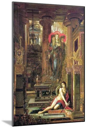 Orestes and the Erinyes, 1891-Gustave Moreau-Mounted Giclee Print