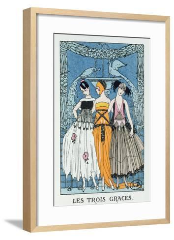 Les Trois Graces, 1918 (Colour Litho)-Georges Barbier-Framed Art Print