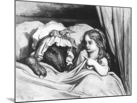 Little Red Riding Hood and the Wolf', Illustration from 'Les Contes De Perrault'-Gustave Dor?-Mounted Giclee Print