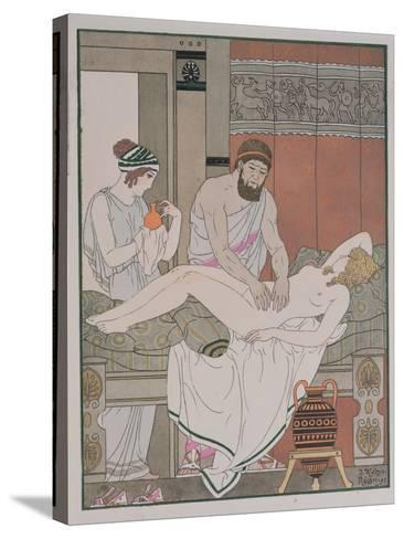 Examination of a Patient, Illustration from 'The Complete Works of Hippocrates', 1932-Joseph Kuhn-Regnier-Stretched Canvas Print