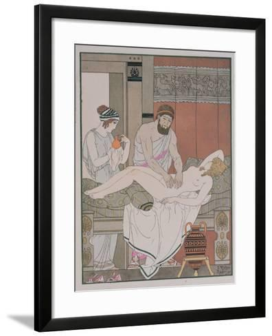 Examination of a Patient, Illustration from 'The Complete Works of Hippocrates', 1932-Joseph Kuhn-Regnier-Framed Art Print